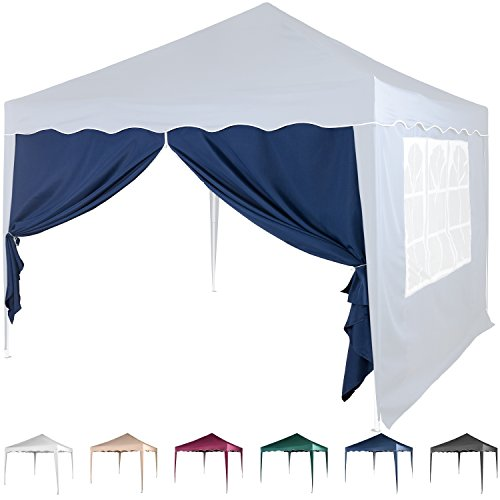 Maxstore Seitenwand für Pavillon 3x3m, mit Reißverschluss, Farbwahl Weiß Champagner Blau Grün...