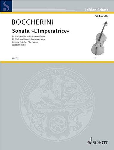 """Sonata """"L'Imperatrice"""" A-Dur: Violoncello und Basso continuo. (Edition Schott)"""