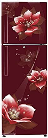 Haier 258 L 3 Star Frost Free Double Door Refrigerator(HEF-25TRF, Red, Convertible)
