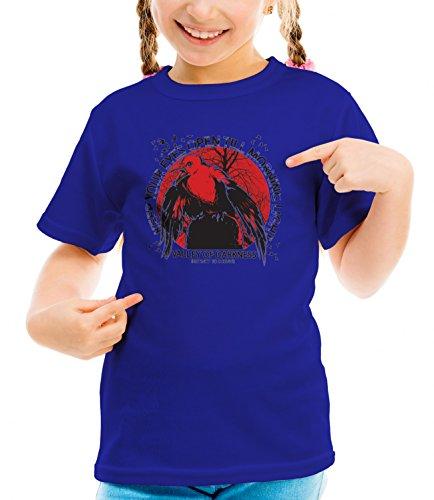 Three Monkeys Survivor Bird Animals Collection Girls Classic Crew Neck T-Shirt Dark Blue Medium