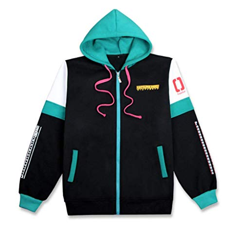 Cosstars Hatsune Miku Anime Kapuzenpullover Sweatshirt Cosplay Kostüm Hoodie Jacke Top Mantel Grün Plus Samt ()