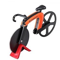 Wonderchef Bike Stainless Steel Pizza Cutter, Orange