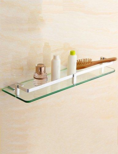 XIAOLIN-- Badezimmer-Racks Einschichtiger Toiletten-Rack Wand-WC Glas-Spiegel-Frontrahmen-Badezimmer-Hardware-Anhänger Badezimmer-Racks ( größe : 30cm )