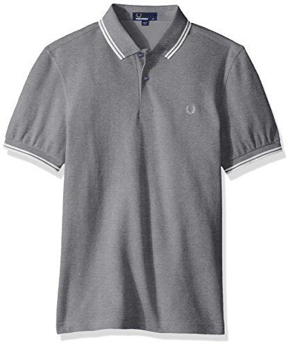 Fred Perry Herren Poloshirt FP Twin Tipped Carbon Blue Oxf