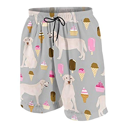 vcbndfcjnd Labrador Ice Creams Cute Dogs Boys Beach Shorts Quick Dry Beach Swim Trunks Kids Swimsuit Beach Shorts,Athletic Performance Basketball Shorts L