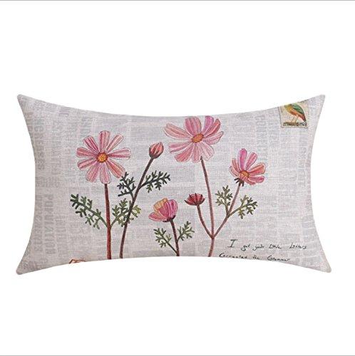 Federa Cuscino Rosa Daisy Flower, Cotone e