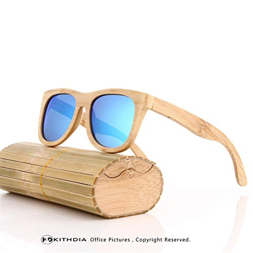 DAIYSNAFDN Bambus Sonnenbrillen Männer Holz Sonnenbrillen Polarisierte Designer Spiegel Original Holz Sonnenbrille 5
