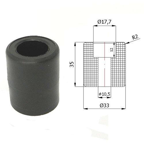 Zabi Führungsrolle - Nylon Kunststoff-Führungsrollen für Schiebetore Ø 33mm