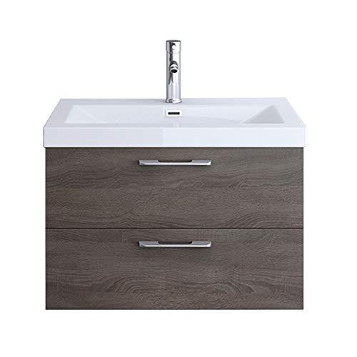 Meuble de salle de bains ensemble de 4-pièces, meuble sous vasque , vasque 60,2cm, mirroir et rangement complémentaire gauche Bavaria