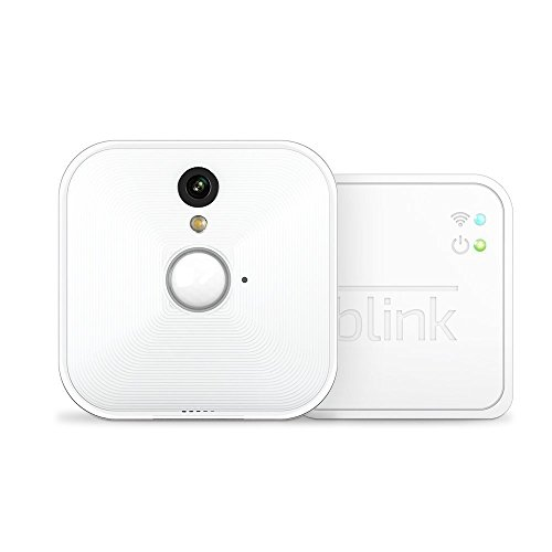 Sistema di telecamere per la sicurezza domestica Blink, per interni, con rilevatore di movimento, video in HD, batterie con una...