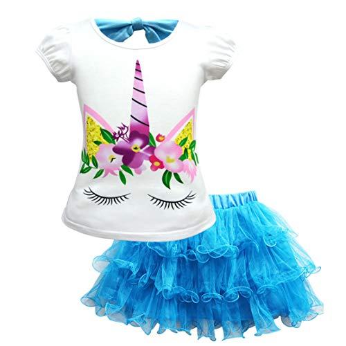 Einhorn Kleid Mädchen Tulle Tutu Party Geburtstag Prinzessin Kleider ()
