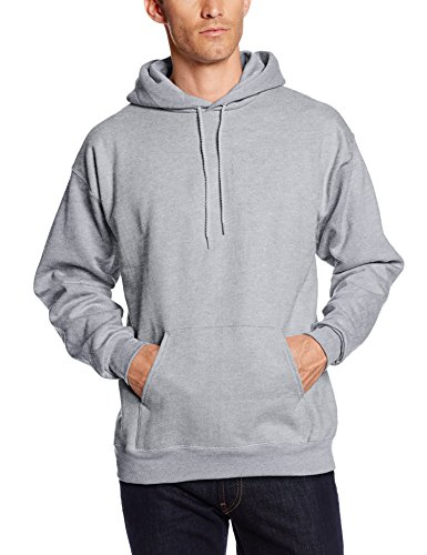 Hanes Herren Pullover Ultimate schwerem Fleece Hoodie Sweatshirt Light Steel