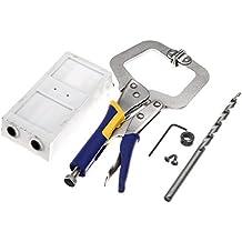 Rishil World Pocket Hole Jig Kit Jr Bit System Manual Wood Working Tool Drill Guide Wood DIY