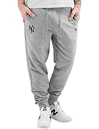 A NEW ERA Hombres Pantalones/Pantalón deportivo Team Apparel French Terry NY Yankees