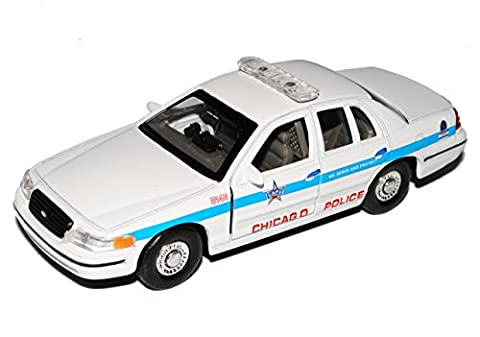 Ford Crown Victoria Polizei Police Chicago 1997-2011 ca 1/43 1/36-1/46 Welly Modell Auto