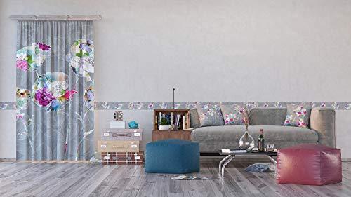 AG Design Flora Farbe, Vorhänge für Wohnzimmer, Küche, Schlafzimmer, 140 x 245 cm