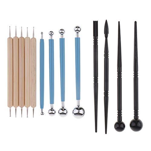 IPOTCH 13 Piezas Conjunto de Talladores Arcilla de Polimero Alfareria Ceramica Instrumento de Modelado de Escultura