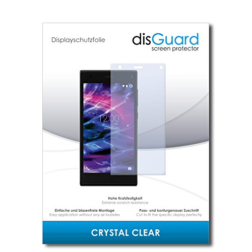 disGuard® Bildschirmschutzfolie [Crystal Clear] kompatibel mit Medion Life P5005 [2 Stück] Kristallklar, Transparent, Unsichtbar, Extrem Kratzfest, Anti-Fingerabdruck - Panzerglas Folie, Schutzfolie