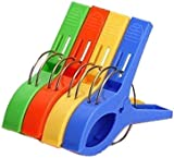 4Pcs Big Plastic Windproof Clothes hanging Peg Beddable Quilt Sheet Clip Racks Clip