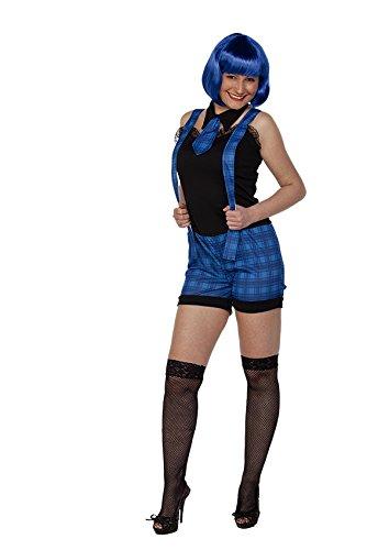 KOSTÜM - SCHULMÄDCHEN - blau, Größe 42 (L), Schule Universität College (College Halloween Girl)