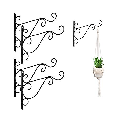 Koitoy Haken für Blumenampel Wandhalterung für Blumentopf, Garten, Windspiele,Blumenampelhalter(4) -