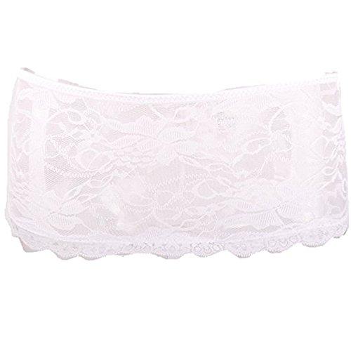 ohyeahlady Damen Strings mit zarter Spitze Unterwäsche Tangas Set Panties Weiß