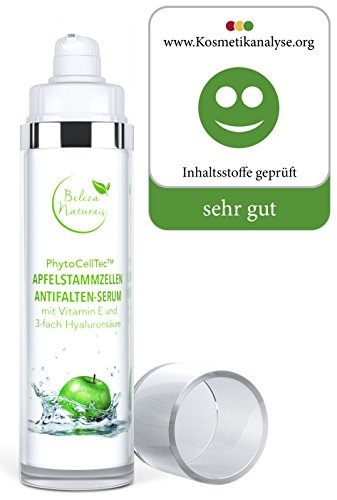 Hyaluronsäure hochdosiert Anti Falten Soforteffekt Serum 3-fach niedermolekulare hochmolekulare quervernetzte mit Apfelstammzellen Vitamin E 50ml Anti Aging Pflege vegan Made in Germany