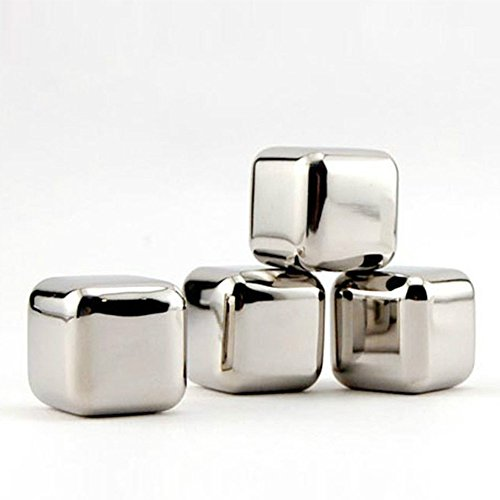 Hemore 6pcs Cubitos de Hielo Reutilizables, Cubos Enfriadores Whisky Piedras,Aprobados por FDA...