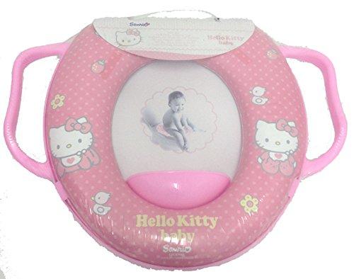 Riduttore WC Disney Hello Kitty con imbottitura morbida e manici rosa