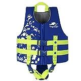 Gilet da Nuoto per Ragazze Ragazzi - Giubbotto Galleggiante per Bambina Bambini Giacca di Nuoto Imparare a Nuotare