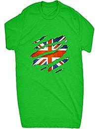 Renowned 0065 British flag ripped Mens T Shirt