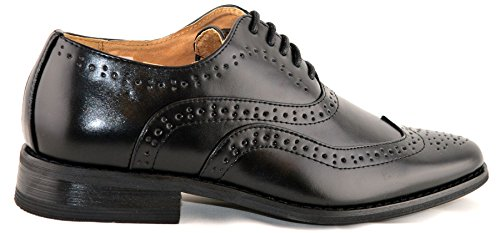 Boys Leather Lined Lace Up Wedding