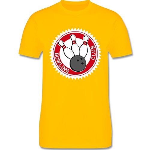 Bowling & Kegeln - Bowling Club Badge Abzeichen - Herren Premium T-Shirt Gelb