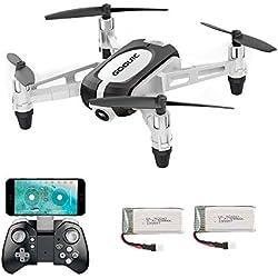 GoolRC T700 Mini RC Drone 720P caméra WiFi FPV Selfie G-Capteur Altitude Hold RC Quadricoptère avec 2 Batteries pour Débutants Enfants