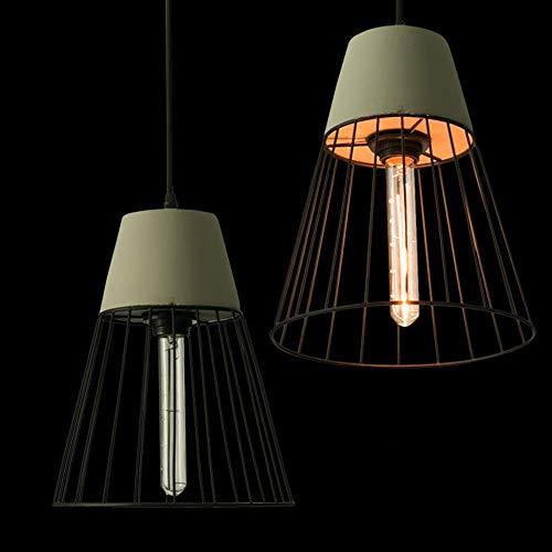 HXYT Personalisierte Zement Pendelleuchten Vintage Industriestil & Farbtöne/für Wohnzimmer Schlafzimmer Esszimmer (E27),Gray
