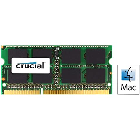 Crucial - Kit de memoria para Mac (8 GB, 2x 4 GB DDR3, PC3-10600, 1333 MT/s, SODIMM, 204-Pin)