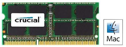 Crucial 8GB Kit (4GBx2) DDR3 1333 MT/s (PC3-10600) SODIMM 204-Pin Memory for Mac - (S 4 Sodimm Memoria)