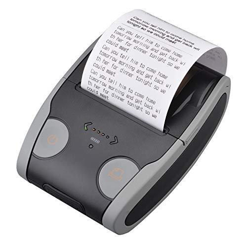 PowerLead 58mm Wireless High Speed Tragbarer Thermodrucker, QS5806 Mini Wireless Standalone-Drucker kompatibel mit iOS/Android/Windows/Symbian/Win C