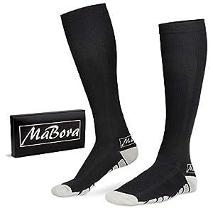MaBora Kompressionsstrümpfe für Damen und Herren, Kompressionssocken, Stützstrümpfe, Thrombosestrümpfe, Compression Socks,Reisestrümpfe, Kniestrümpfe, Skisocken, Laufsocken, Wandersocken