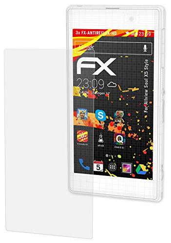atFolix Schutzfolie kompatibel mit Allview Soul X5 Style Bildschirmschutzfolie, HD-Entspiegelung FX Folie (3X)