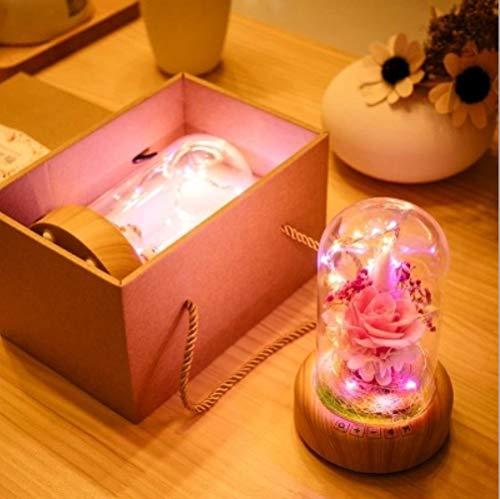 Ich wünsche Streamer Flasche Bluetooth Lautsprecher ewige Blume Nachtlicht romantische Flirtatmosphäre Licht drahtlose Musik Audio Tischlampe (Ich Home-lautsprecher-drahtlos)