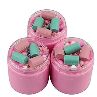 UEVOS Slime Erdbeer-Geburtstagskuchen Slime Chocolate Slime mit Charm SludgeDuftspielzeug für Jungen (100ml