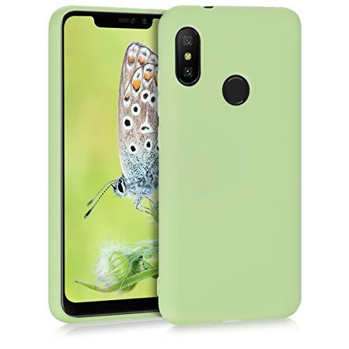 kwmobile Funda para Xiaomi Redmi 6 Pro/Mi A2 Lite - Carcasa para móvil en TPU Silicona - Protector Trasero en Verde Pistacho