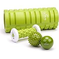 Masaje Power Set 4Piezas de Active Capricorn Fascia Roller, Masaje de pies, Masaje pelota, erizo para Fascia Entrenamiento, automasaje, relajación müder Músculos, Estimulación circulación sanguínea