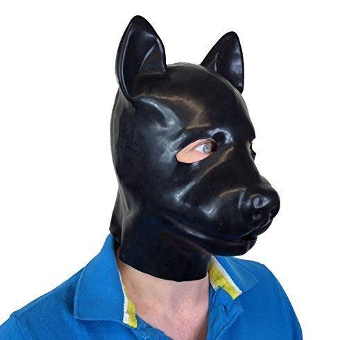 Fetisch Latex Hund Maske Erwachsenen Maskerade Fancy Dress ()