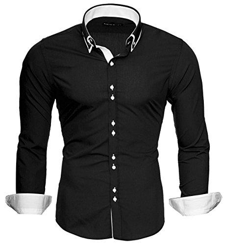 merish-camicia-uomo-slim-fitcamicia-manica-lunga-adatto-per-tutte-le-occasioni-casual-e-chic-bi-colo