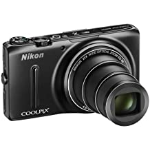 Nikon Coolpix S9500 Camera Black 18.1MP 22xZoom 3.0OLED FHD 25mm Wide Lens Wifi