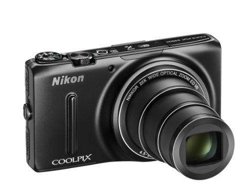 Nikon Coolpix S9500 Digitalkamera (18 Megapixel, 22-fach opt. Zoom, 7,6 cm (3 Zoll) OLED-Display, Bildstabilisator) schwarz (S9500 Coolpix Kamera Nikon)