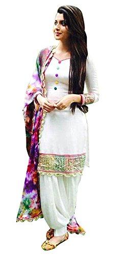 Sparkle enterprise Designer Party Wear Traditional Cotton Salwar Suits/Patiala Dress Material Suit for Women