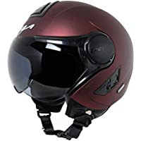 Vega Verve Open Face Helmet (Women's, Burgundy, M)